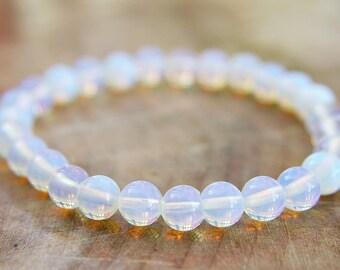 Opalite Beaded Bracelet 6mm Gemstone Bracelet