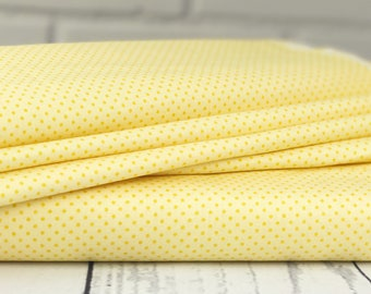 SALE Yellow Polka Dot Fabric - Happy Day Fabric - Riley Blake Fabric - Polka Dot Fabric - Fabric by the yard - C5916