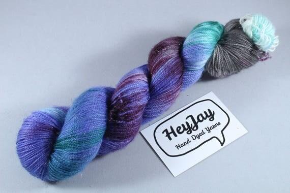 Sparkle Merino Sock Yarn - Maleficient