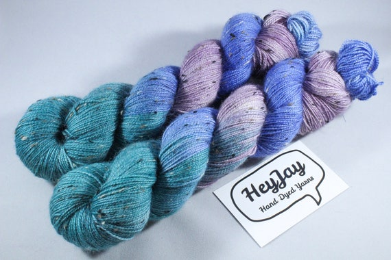 Donegal Tweed Sock Yarn - BFL - Waterlilly