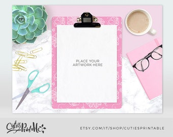 Gold Clipboard Mockup - Instant Download - Styled Mock Up Photography for Shops - Stock Photo - Planner mockup