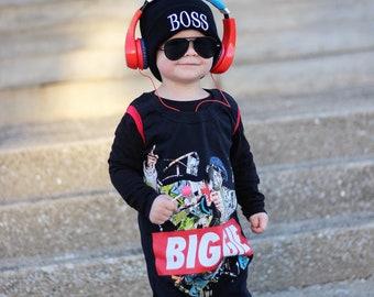 Notorious BIG, baby romper, handmade baby bodysuit, baby bodysuit, custom baby gift, toddler clothes, hip hop, t shirt romper, music