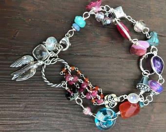 Bracelet, beaded bracelet, gemstone bracelet, sterling bracelet, glass bracelet, charm bracelet, multi bracelet