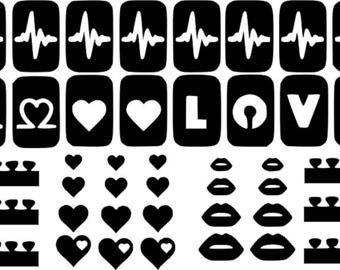 10 New Designs Nail Art Stencils Vinyl Decal Stickers Manicure Airbrush Template