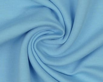Baby Blue French Terry  - Quality 4 way stretch 290gsm