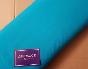 Aqua Blue, Cotton Lycra Jersey Knit Fabric