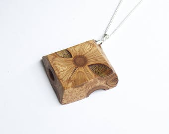 Eco gift - banksia, pendant necklace, gift for her, handmade jewellery, wood necklace, australian made, present