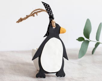 Penguin, penguin gift, winter decor, black penguin, christmas penguin, penguin decor, penguin decoration