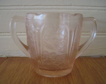 Jeannette Glass Co. Cherry Blossom Child-size Sugar Bowl - Item #1563