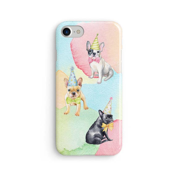 Watercolor pug party - iPhone 7 case, samsung s7 case, iphone 7 plus case, iphone se case 1P070