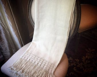Ivory all natural hand-made shawl