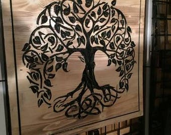 Carved Tree of Life home decor
