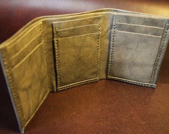 Leather Trifold Card Wallet
