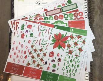 Final Sale | Be Merry - DELUXE Weekly Sticker Kit, Planner Stickers, No White Space Planner Sticker Kit, for use with EC LIFEPLANNER™