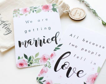 Wedding Milestone Cards Floral - Luxe Linen Engagement Gift - Bride to be - Bridal Gift