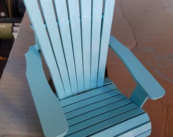 Cell Phone Stand - Blue Ocean Breeze Adirondack Chair