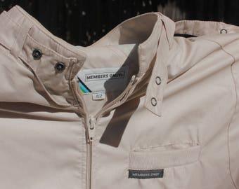 CLASSIC nostalgic MEMBERS ONLY cream jacket