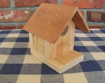 Birdhouse - Pallet Wood, Cedar Roof - Small, Decorative, Indoor, Outdoor Birdhouse - Garden, Porch, Patio