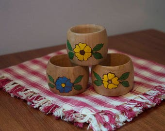 Set of Three Napkin Rings