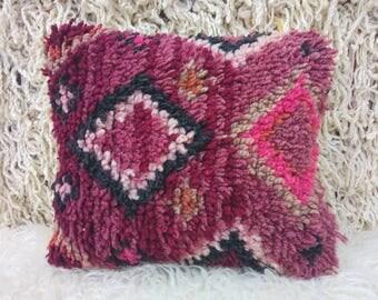 "Gorgeous small vintage talsint cushion, handmade 15""/12"""