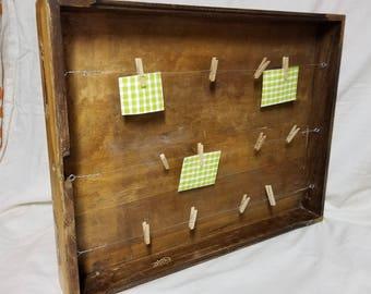 Vintage Drawer Clothespin Phto Hanger