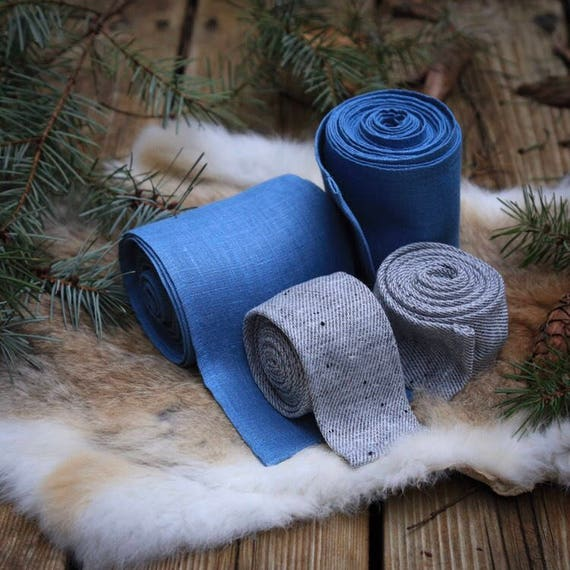 Viking Leg and Arm Wraps Winingas Vindingr Wickelbander vaf-spjôrr, Linen and/or Wool Garb Norse, SCA, LARP, Anglo Saxon, Armor, Reenactment