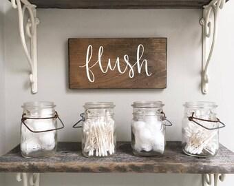 Flush - Wood Sign