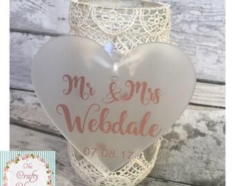 Wedding hanging heart,