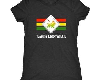 Rasta lion wear Original logo Ladies Rasta t-shirt RLW499