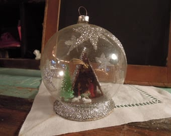 Vintage Glass Christmas Ornament / West Germany Christmas Ornament / Larissa Ornament