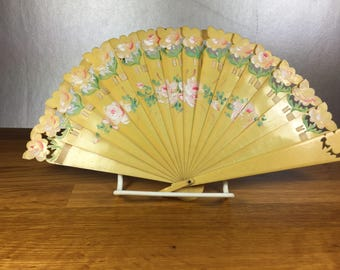 Hand Painted Celluloid Fan