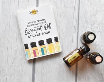 Doterra Inspired Essential Oil Label Sticker Book SINGLE OILS EDITION *no codes please*