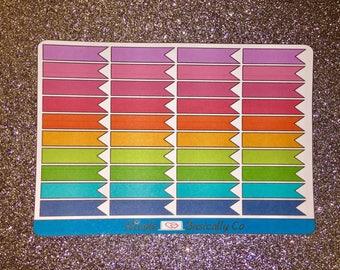 Blank Rainbow Flag Planner Stickers