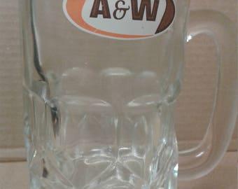 Vintage A&W Root Beer Mugs, Fast Food mugs