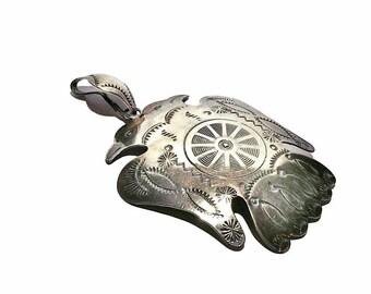 Vintage Native American Double Headed Bird Wheel Pendent
