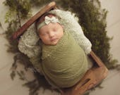 PICK FOUR Cheesecloth Newborn Wrap Set : Newborn Photo Prop, Baby Wraps, Newborn Photography