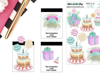 Happy Birthday Sticker for any Planner