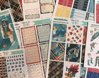 Limited Edition August Fall Kit Planner Stickers