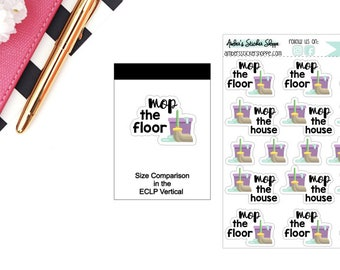 Mop the Floor Clean the House Stickers for any Planner