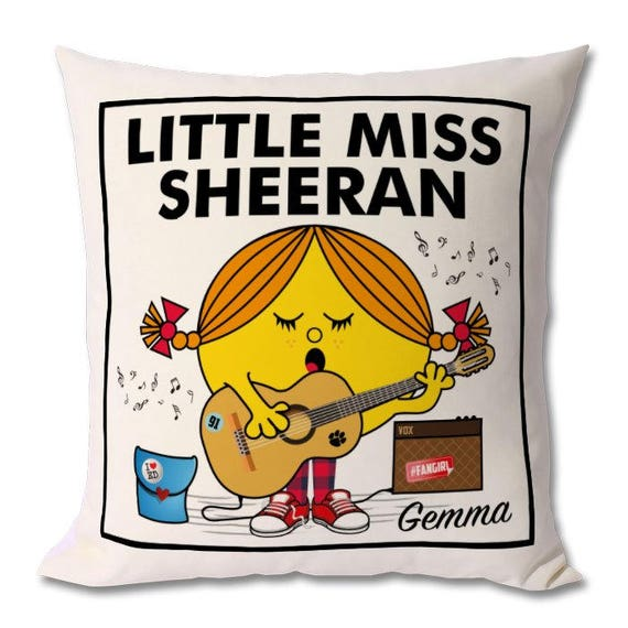 Personalised Little Miss Sheeran Cushion
