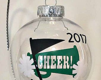 Cheerleader Ornament, Christmas Gift, Cheerleading Gift, Friend Gift,Cheer Coach Gift