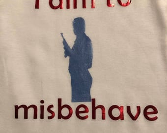 Aim to misbehave - Firefly - Gerber onesie