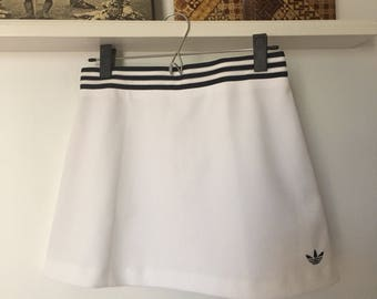 90s ADIDAS Black and White Tennis Skirt