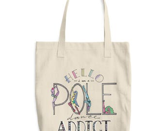 Pole Dancing Addict Pole Dance Canvas Tote Bag