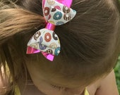 Donut Bow - Sweets Bow on Clip, Nylon, or Elastic - Photo Props
