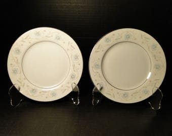 "TWO Fine China of Japan English Garden Salad Plates 7 1/2"" 1221 (Set of 2) EXCELLENT!"