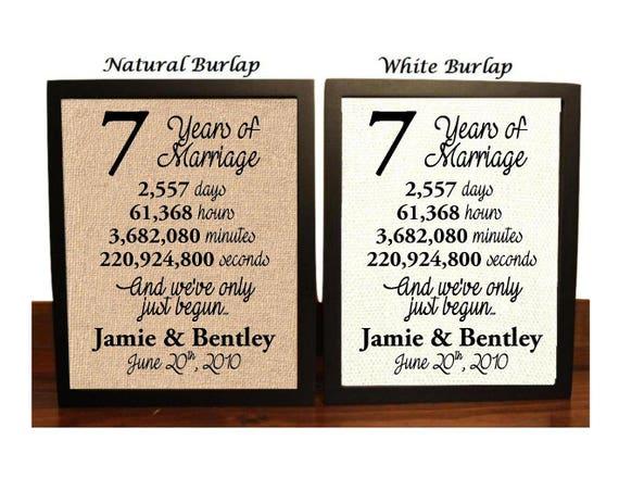Seventh Wedding Anniversary Gift Ideas: 7th Anniversary 7 Year Anniversary 7th Anniversary Gift