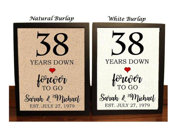 22nd Wedding Anniversary Gift Ideas: 38th Anniversary Gift 38th Wedding Anniversary Gift Gift