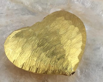 Hill Tribe Silver Scratch Heart Gold Vermeil Bead... store wide sale with coupon code