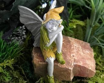 Miniature Boy Fairy Taking a Nap